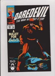 DAREDEVIL  #293 VF/NM 1991 MARVEL COMICS DD VS THE PUNISHER
