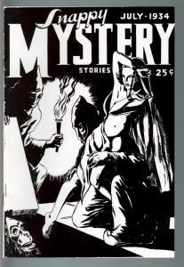 SNAPPY MYSTERY 1934 JULY-V. 1 #1-RARE REPRINT EDITION VF/NM