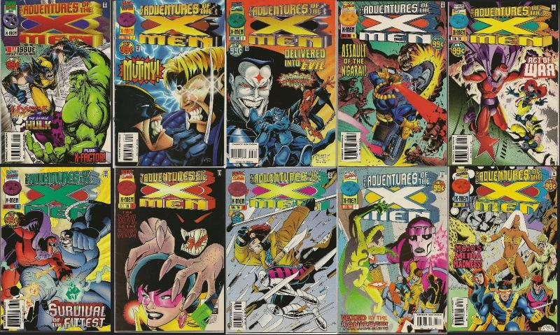 Adventures of the X-Men Apr 1996 to Jan 1997 issues # 1-10 complete