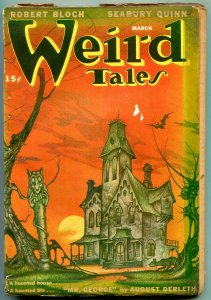 Weird Tales March 1947- Haunted House cover- Lovecraft- Derleth G