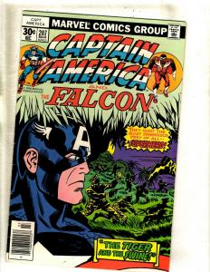 5 Captain America Marvel Comic Books # 207 208 209 210 211 KIRBY Falcon FM7