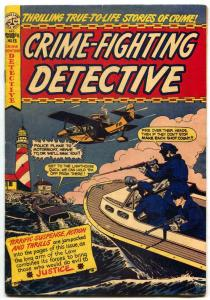 Crime-Fighting Detective #13 1950- LB COLE cover- Golden Age comic FN-