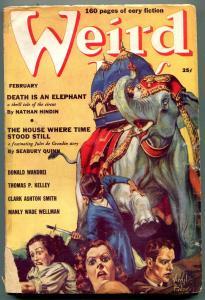 Weird Tales Pulp February 1939- Virgil Finlay-Death is an Elephant G/VG
