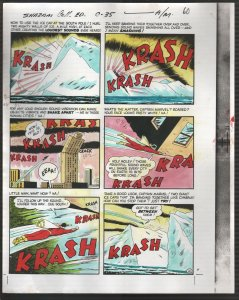 Hand Painted Color Guide-Capt Marvel-Shazam-C35-1975-DC-page 60-explosion-VG/FN