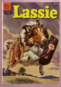 M-G-M'S LASSIE #21 '55-COLLIE HERO ADVENTURE-MATT BAKER VG