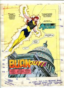 Justice Machine #24 Page #1 1988 Original Color Guide Splash Page