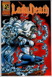 LADY DEATH 1/2 WIZARD MAIL AWAY NEAR MINT WITH COA $20.00
