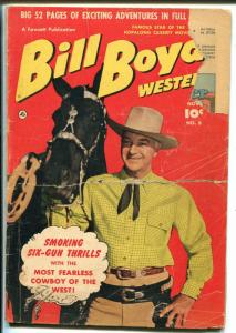 Bill Boyd Western #8 1950-Fawcett-William Boyd photo cover-FR
