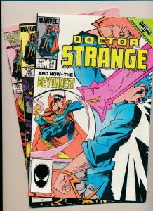 LOT of 3 Comics! Marvel DOCTOR STRANGE #74,75,76 F/VF (PF802)