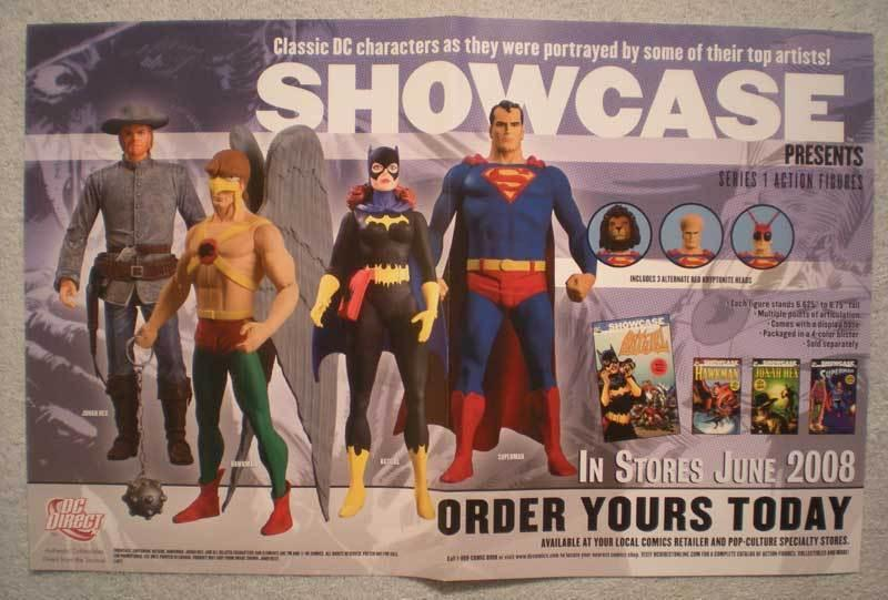 SHOWCASE PRESENTS Promo Poster,  17x11, 2008, Superman, Unused, more DC in store