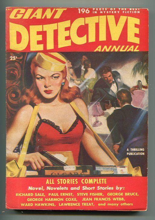 GIANT DETECTIVE ANNUAL #1 1950-1ST ISSUE-GUN MOLL-HARD BOILED CRIME-PULP-vf