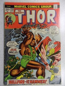 THE MIGHTY THOR # 210 MARVEL GODS JOURNEY ACTION ADVENTURE VG/FN