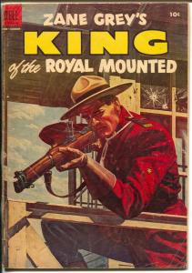 King of The Royal Mounted #16 1954-Dell-Zane Grey-RCMP-VG