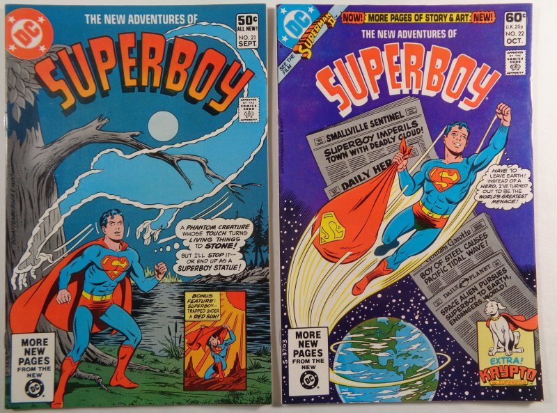 New Adventures of Superboy #4-43 Lot of 37 Bronze Age DC Comics Box Shipped