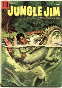 JUNGLE JIM #5-DELL--ALLIGATOR TERROR COVER--BENGAL TIGER STORY- 1955