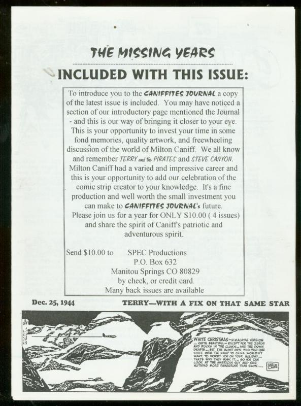 Caniffites Journal Promo #82 December 25 1994-MILTON CANNIF- Newsletter
