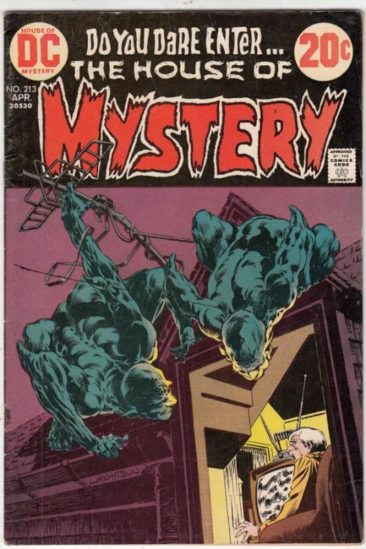 House of Mystery #213 (Apr-73) VF+ High-Grade