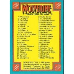 1992 Wolverine: From Then 'Til Now: Series 2 CHECKLIST #90