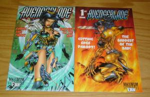 Avengeblade #1-2 VF/NM complete series PAT LEE parody of witchblade avengelyne