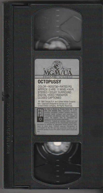 OCTOPUSSY VHS  Roger Moore and Maude Adams reunite !