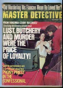 THE MASTER DETECTIVE-NOV/1973-PHONY PRIEST-LUST-BUTCHERY-RAPE-SLAYING DIV P/FR