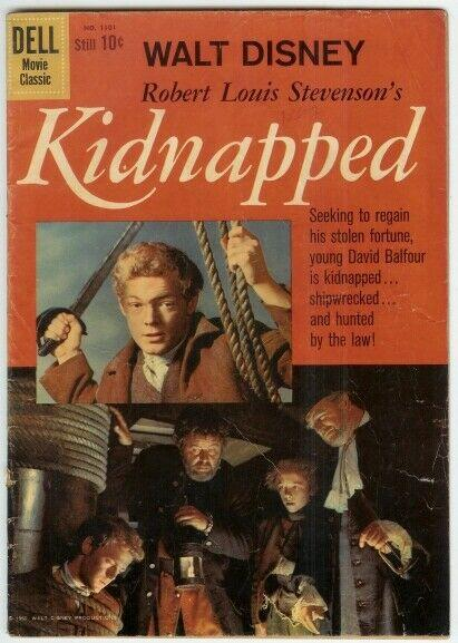 KIDNAPPED (1960 GOLD KEY) F.C.1101 G+ PHOTOCOVER COMICS BOOK