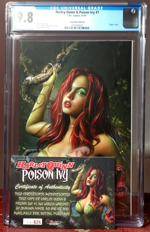 HARLEY QUINN AND POISON IVY 1H Shannon Maer Virgin Variant Cover of Poison Ivy