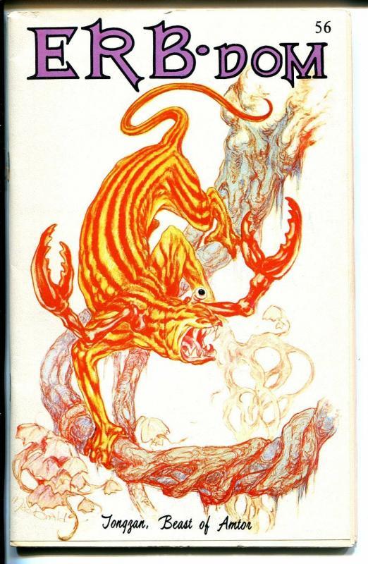 ERB-Dom  #56 1972-Edgar Rice Burroughs fanzine-Tarzan-John Carter-FN