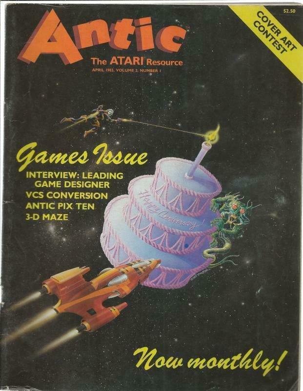 ORIGINAL Vintage Antic Atari Magazine Vol 2 #1 April 1983
