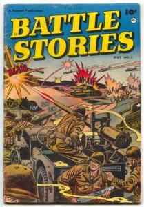 Battle Stories #3 1952- Fawcett War comic- G/VG