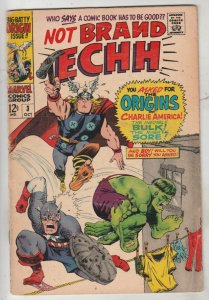 Not Brand Echh #3 (Oct-67) VG/FN Mid-Grade Thor, Hulk, Captain America