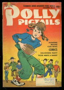 POLLY PIGTAILS #33 1948-FOOTBALL COVER-HALLOIWEEN ISSUE VG
