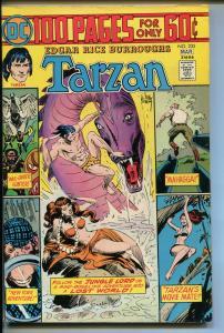 TARZAN #235 1975-DC-EDGAR RICE BURROUGHS-GIANT ISSUE-JOE KUBERT JUNGLE ART-vf/nm