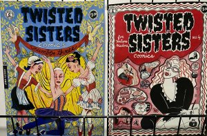 TWISTED SISTERS COMICS #3,4 (Kitchen Sink, 1994- 1995)   VF-NM Gloeckner,Darcy