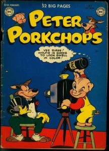 PETER PORKCHOPS #4 1950-DC COMICS-FUNNY ANIMAL  RARE VG-