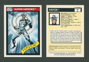 1990 Marvel Comics Card  #35 (Havok) / MINT