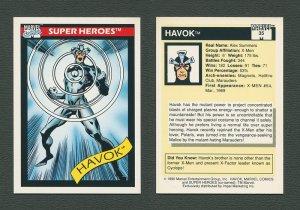 1990 Marvel Comics Card  #35 (Havok) / MINT