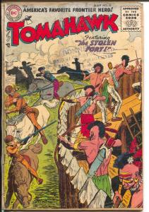 Tomahawk #32 1955-DC-Indian battle cover-VG