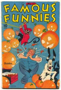 Famous Funnies #135 1945- HALLOWEEN COVER- Carlson VG