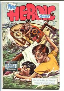 HEROIC COMICS #46 1948-SHIPWRECK COVER-DROWNING FN