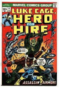 HERO FOR HIRE #6-1973-LUKE CAGE-BRONZE AGE-MARVEL vf