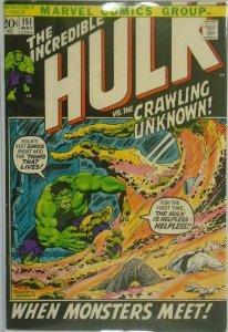 The Incredible Hulk #151 - 4.0 VG - 1972