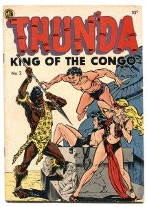 Thunda #2 1952- 1st Cave Girl- Spicy GGA cover VG