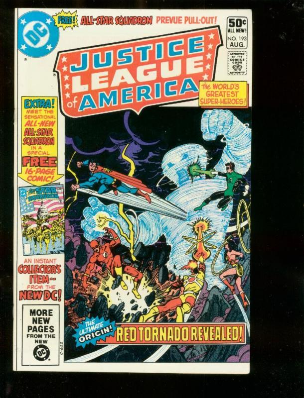 JUSTICE LEAGUE OF AMERICA #193 1981-DC COMICS-ALL-STAR  NM