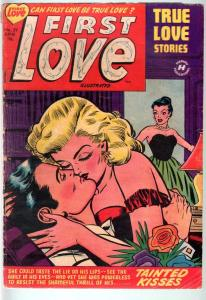 FIRST LOVE #29-1953-ROMANCE COVER ART-BOB POWELL STORY-G/VG-SPICY ART G/VG