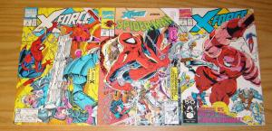 X-Force/Spider-Man: Sabotage #1-2 VF/NM complete story + prologue - deadpool