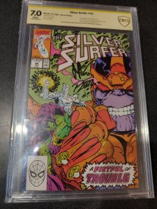 SILVER SURFER #44 CBCS 7.0 SIGNATURE SERIES SIGNED BY JIM STARLIN & RON LIM