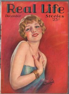 Real Life Stories 12/1927-pin-up girl cover-pulp fiction-FN-