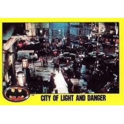 1989 Batman The Movie Series 2 Topps CITY OF LIGHT AND DANGER #228