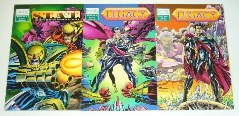 Legacy #1-2 VF/NM complete set + S.T.A.T. one-shot - majestic comics series lot